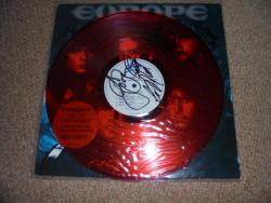 EUROPE OUT OF THIS WORLD RED VINYL LP AUTOGRAPHED