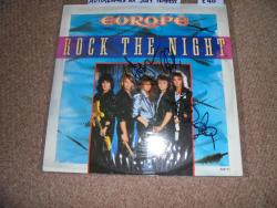 EUROPE ROCK THE NIGHT 12INCH AUTOGRAPHED