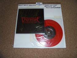 BULLET FOR MY VALENTINE SCREAM AIM FIRE 7INCH RED VINYL AUTOGRAPHED