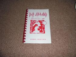 DEF LEPPARD HYSTERIA ITINERARY DEC JAN 1987/88