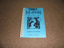 DEF LEPPARD HYSTERIA ITINERARY SEPT OCT 1988