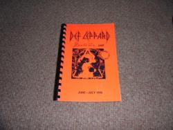 DEF LEPPARD HYSTERIA ITINERARY JUNE JULY 1988