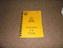 DEF LEPPARD HYSTERIA UK TOUR ITINERARY 1987