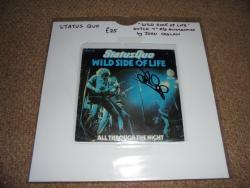 STATUS QUO WILD SIDE OF LIFE 7INCH DUTCH PS AUTOGRAPHED