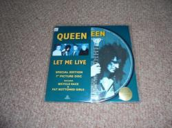 QUEEN LET ME LIVE 7INCH PIC DISC