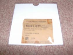 1981 THIN LIZZY STUB WORN