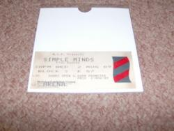1989 S MINDS 2ND DATE BHAM STUB