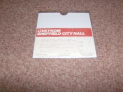 1989 SHEFFIELD CITY HALL STUB