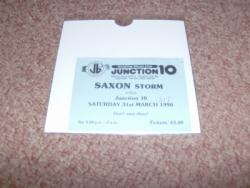 1990 SAXON UK TICKET STUB