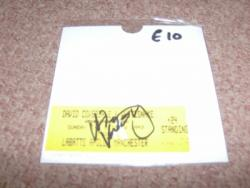 1997 SIGNED WHITESNAKE STUB