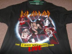 7 DAY WEEKEND TOUR SHIRT