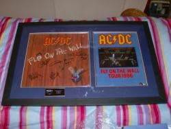 AC DC FLY FULLY SIGNED FRAME