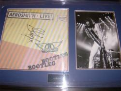 AEROSMITH SIGNED LP FRAME