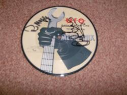 BACK INTO 7INCH PIC DISC SIGNEDX2