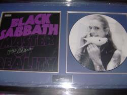 BLACK SABBATH SIGNED FRAME