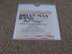 BRIAN MAY TICKET STUB