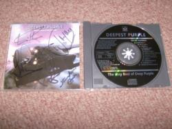 DEEPEST PURPLE CD FULLY AUTOGRAPHED