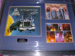 DEF LEPPARD NIGHT SIGNED FRAME