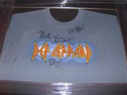 DEF LEPPARD SIGNED SHIRT FRAMED