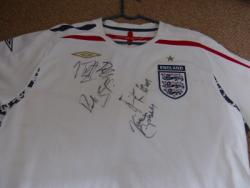 ENGLAND SHIRT FULLY AUTOGRAPHED