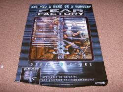 FEAR FACTORY PROMO POSTER