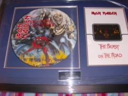 IRON MAIDEN BEAST SIGNED FRAME