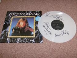 IS THIS LOVE WHITE VINYL 12PS SIGNED