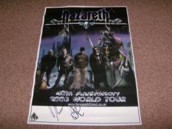 NAZARETH SIGNED POSTER