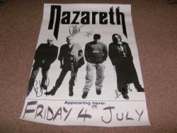 NAZARETH SIGNED TOUR POSTER