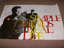 REAL LIFE SIGNED POSTER