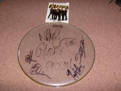 SAXON SIGNED DRUMSKIN PLUS 1
