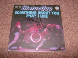 SOMETHING 7INCH GERMAN SIGNED PS