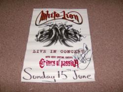 WHITE LION SIGNED POSTER